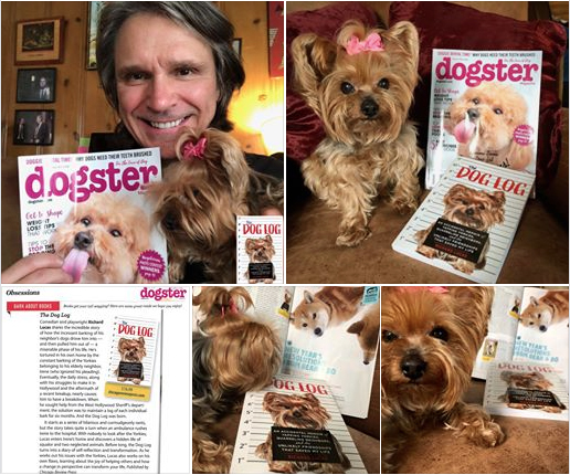Richard Lucas and his comedic memoir, The Dog Log, featured in Dogster Magazine