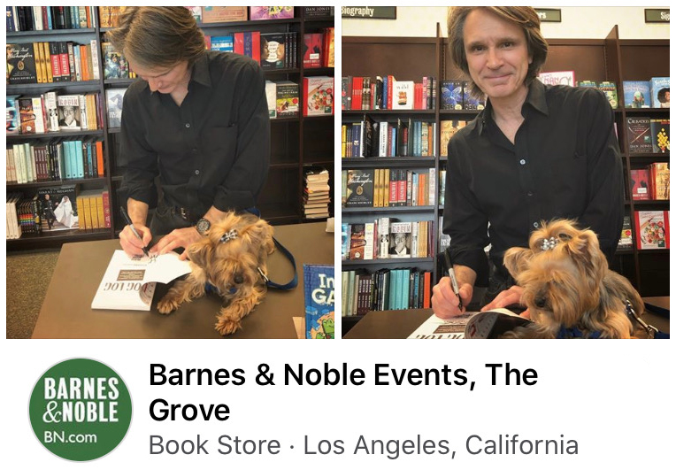 Richard Lucas author and Lauren signing The Dog Log books at Barnes and Noble The Grove Los Angeles