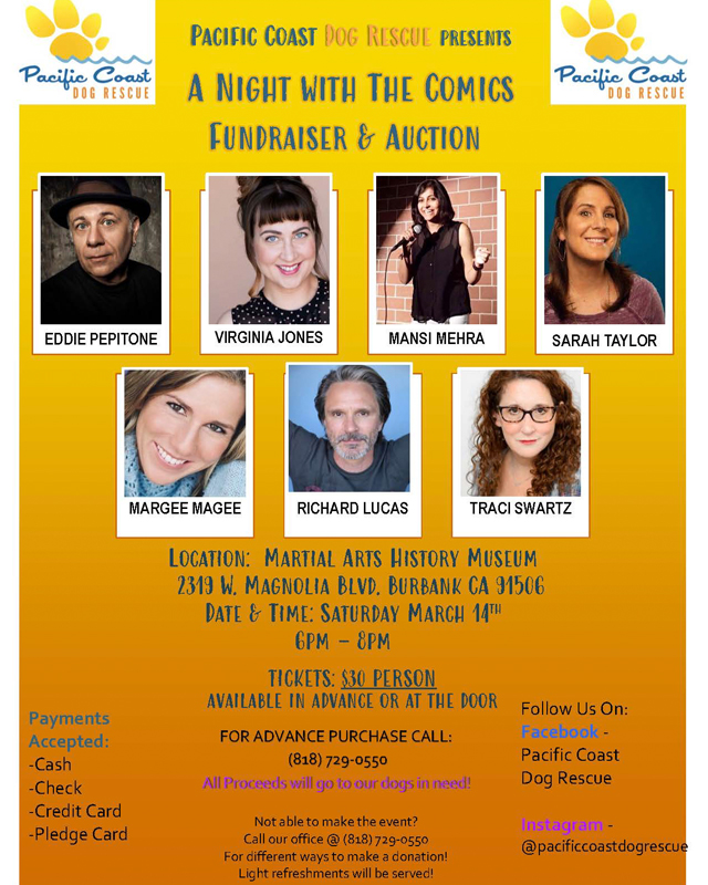 Richard Lucas in Pacific Coast Dog Rescue Fundraiser and Auction