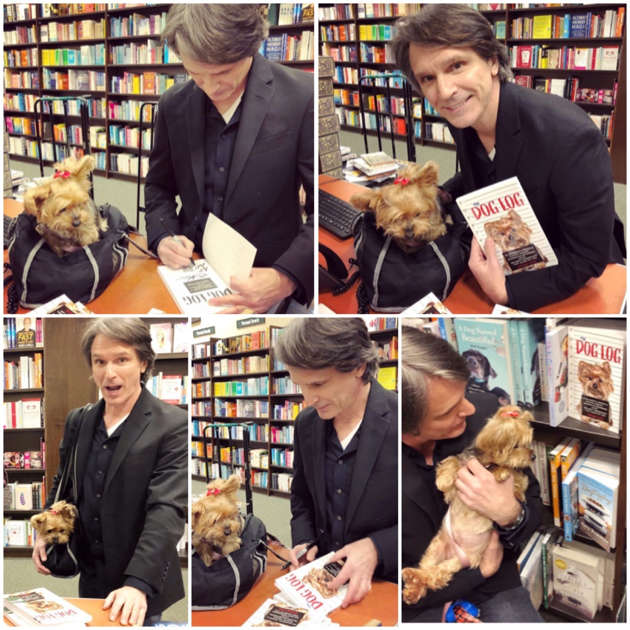 Richard Lucas signing The Dog Log at Barnes and Noble Americana Glendale